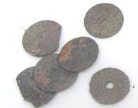 骨壷の中の硬貨