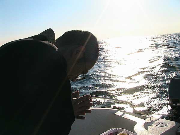 海の散骨-祈る