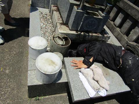 お墓の中の遺骨